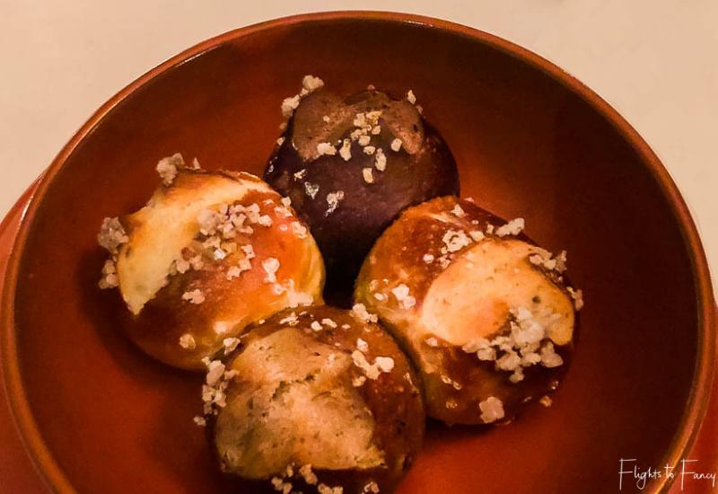 Dinner rolls at Park Hyatt Siem Reap restaurant