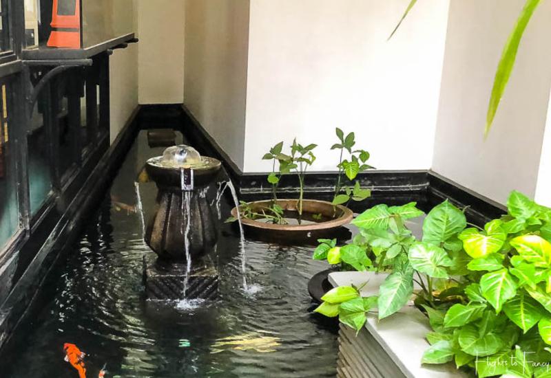 Fountain Near Park Hyatt Siem Reap Restaurant