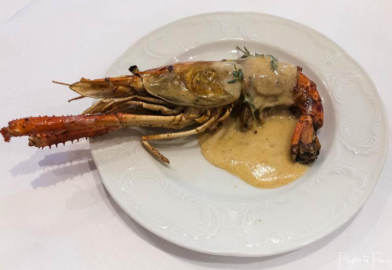 Fresh lobster for brunch Phnom Penh Raffles Hotel Restaurant