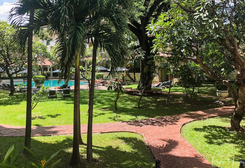 Gardens at Raffles Hotel Le Royal Phnom Penh