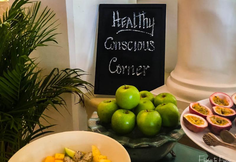 Healthy breakfast in Phnom Penh at Raffles Hotel Le Royal