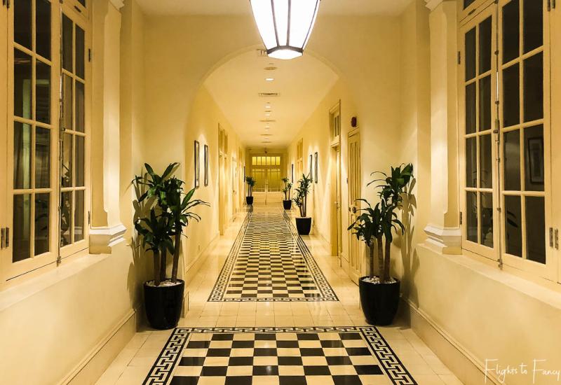 Heritage hallway Raffles Hotel Le Royal Phnom Penh