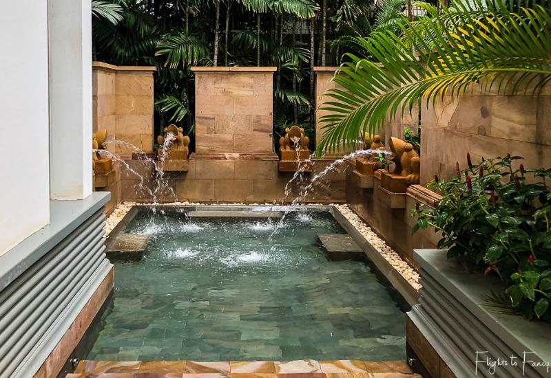 Our 5 star hotel in Siem Reap had a Spa @P Park Hyatt Siem Reap