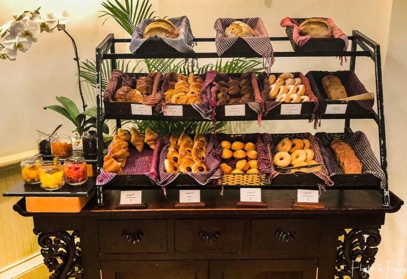Pastries at breakfast in Phnom Penh at Raffles Hotel Le Royal