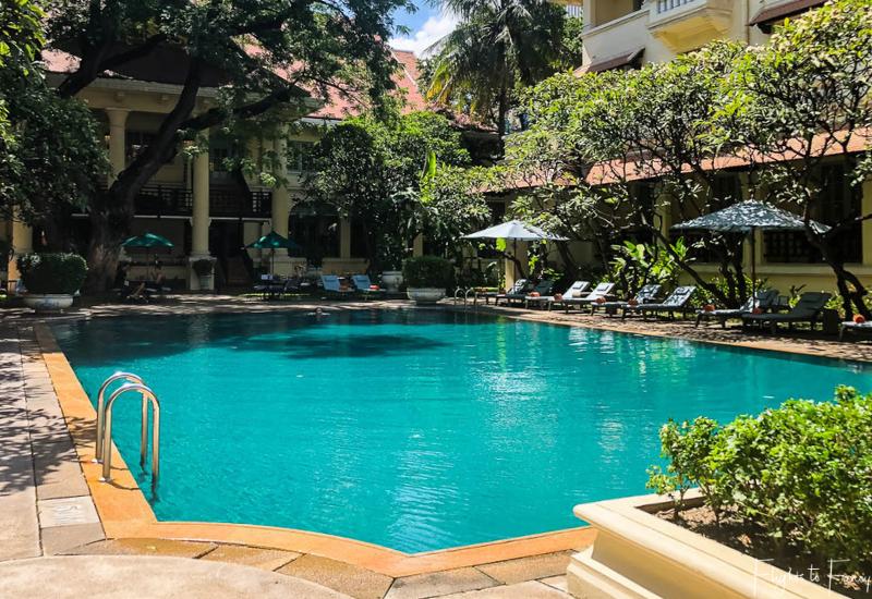 Pool at Raffles Hotel Le Royal Phnom Penh