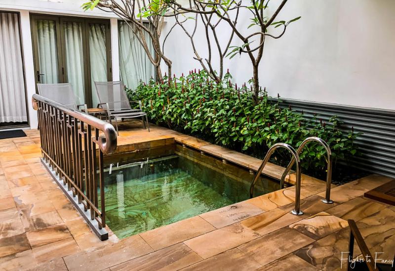 Private pool in our luxury villa Siem Reap @ Park Hyatt