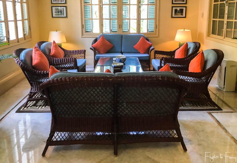 Sitting area at Raffles Hotel Le Royal Phnom Penh