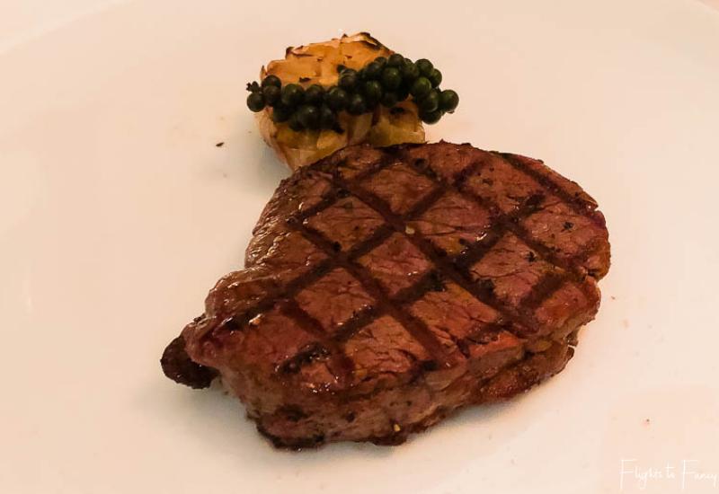 Steak at Park Hyatt Siem Reap Restaurant