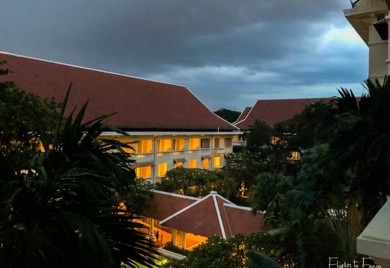 Stormy night at Hotel Le Royal Phnom Penh