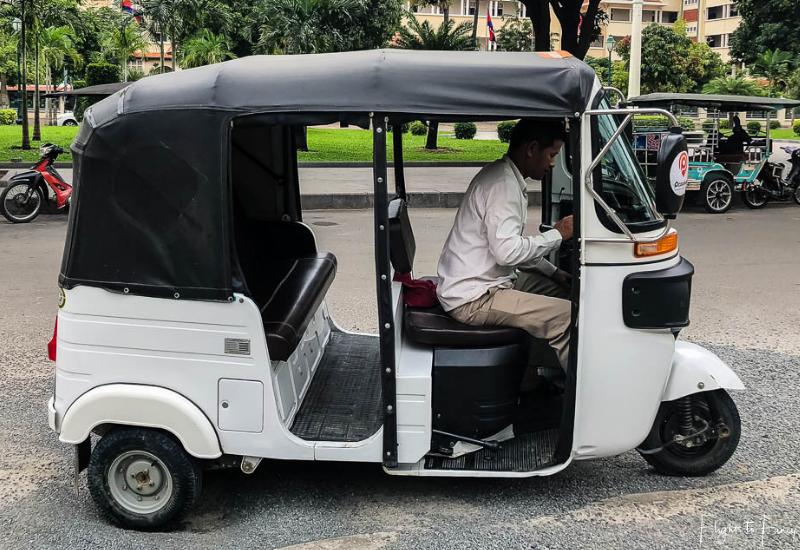 Transport in Phnom Penh - Tuk Tuk