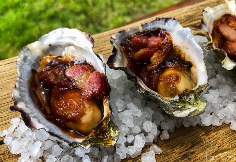 Oysters Kilpatrick @ Bruny Island Premium Wines