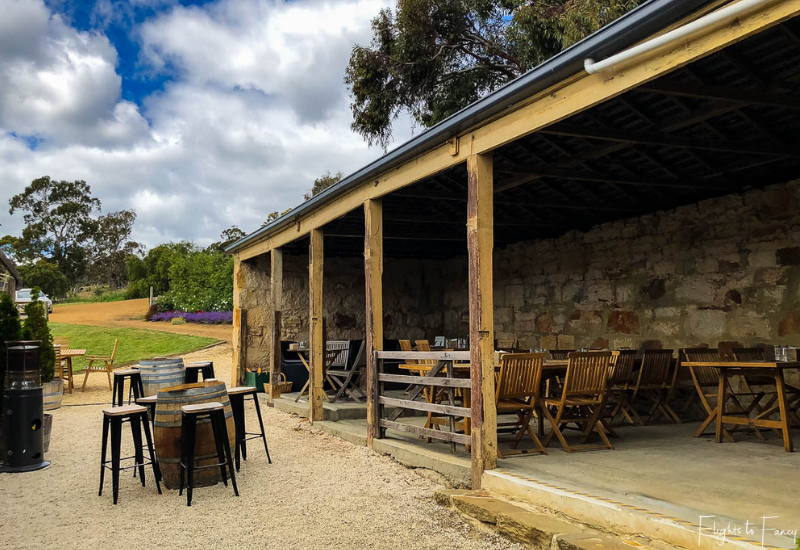 Pooley Wines Outdoor Dining Area