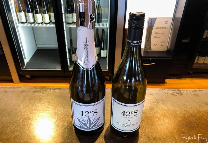 Tasmanian Sparkling Wine and Tasmanian Sauvignon Blanc at Frogmore Creek Winery Cellar Door