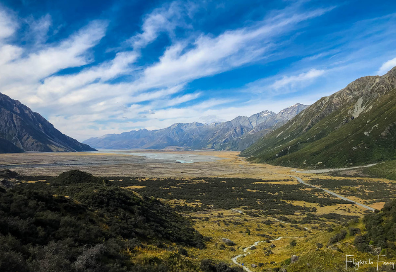 Mount Cook Walks: View from Tasman glacier walk