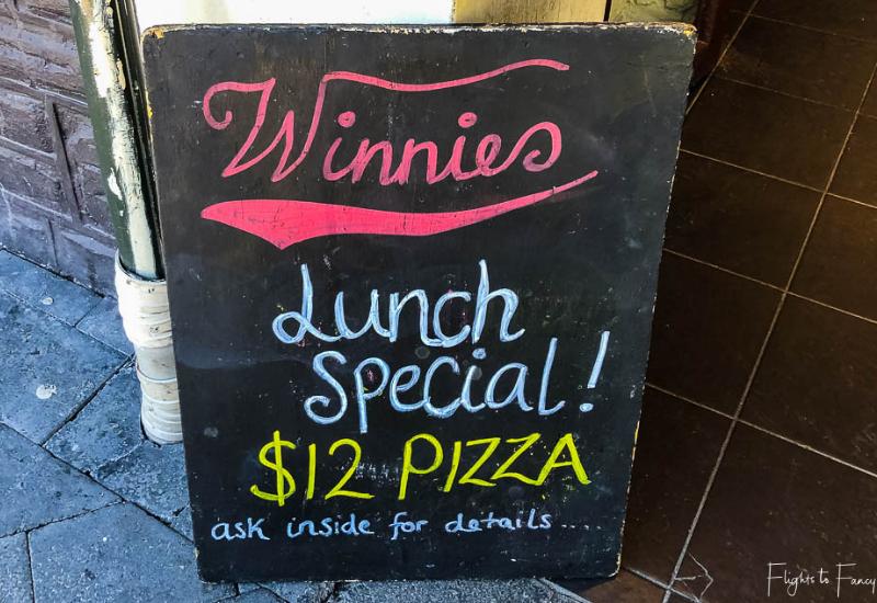 Winnies Queenstown Pizza Lunch Special
