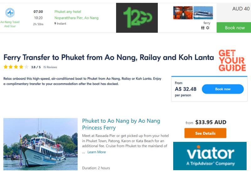 Ferry from Phuket to Krabi