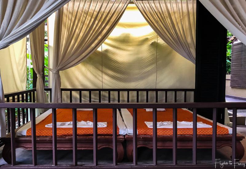 Outdoor massage cabana Swasana Spa Impiana Resort Chaweng Noi Koh Samui