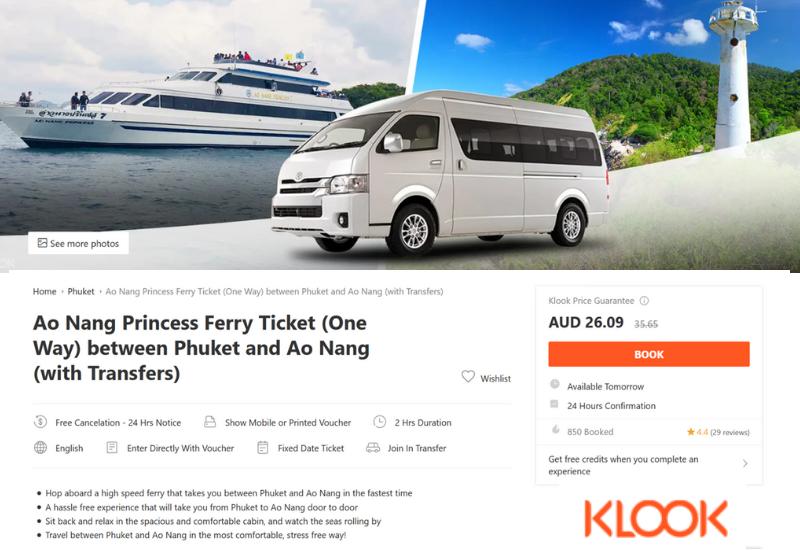 Phuket to Krabi Ferry