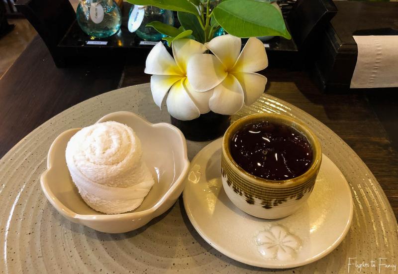 Welcome drink Swasana Spa Impiana Resort Chaweng Noi Koh Samui