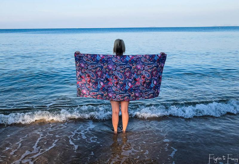 Cosmic Dream Tesalate Beach Towel on Pra-Ae Beach Koh Lanta