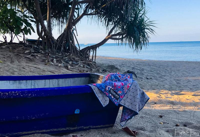 Tesalate Beach Towel on Pra-Ae Beach