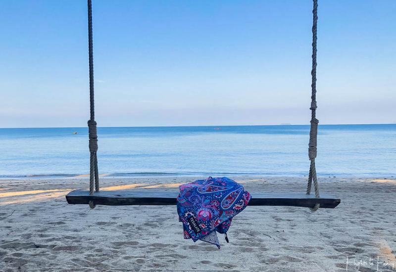 Tesalate Beach Towel swinging in Koh Lanta