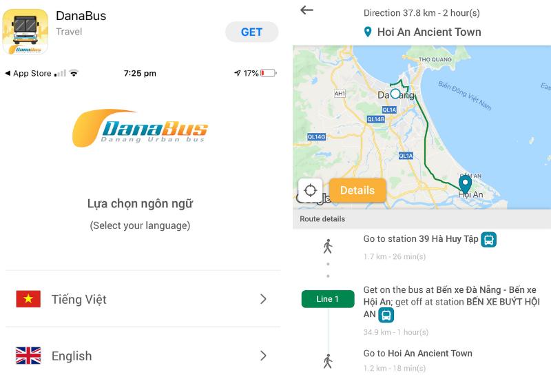 DanaBus App: Da Nang to Hoi An