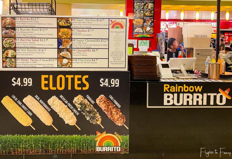 Makai Market Food Court Ala Moana Center - Rainbow Burrito