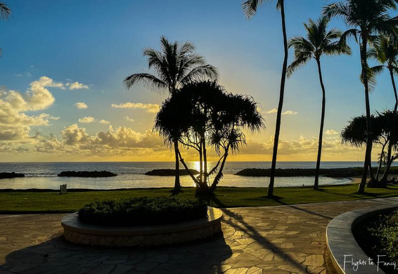 Sunset Ko Olina Lagoon Oahu