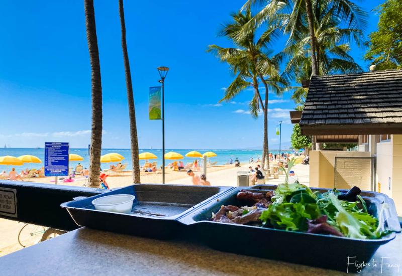 View Of Waikiki Beach from Steak Shack Waikiki