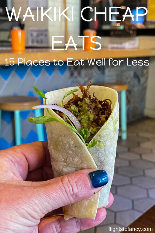 Cheap eats in Waikiki aren't exactly abundant. After an extensive search I managed to find 15 amazing Waikiki cheap eats to satisfy your hunger on a budget. #hawaii #oahu #waikiki #honolulu #cheapeats